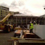 Constructing Temporary Olympic Building